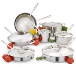 My All-Clad stainless steel cookware is the best cookware I've ever owned.
