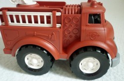Fire truck from Green Toys is sturdy and eco-friendly.